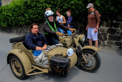 An antique motorcycle rally accented our brief stay in Monterosso.