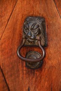 Door knocker in Assisi.