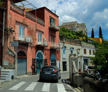 It's Italy! Every road is a racetrack.. Positano.