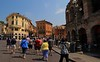 Our tour group enters the city of Verona.