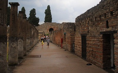 The ash was so deep over Pompeii that not even the hardest rains penetrated, leaving the city untouched by air and moisture for 1700 years.