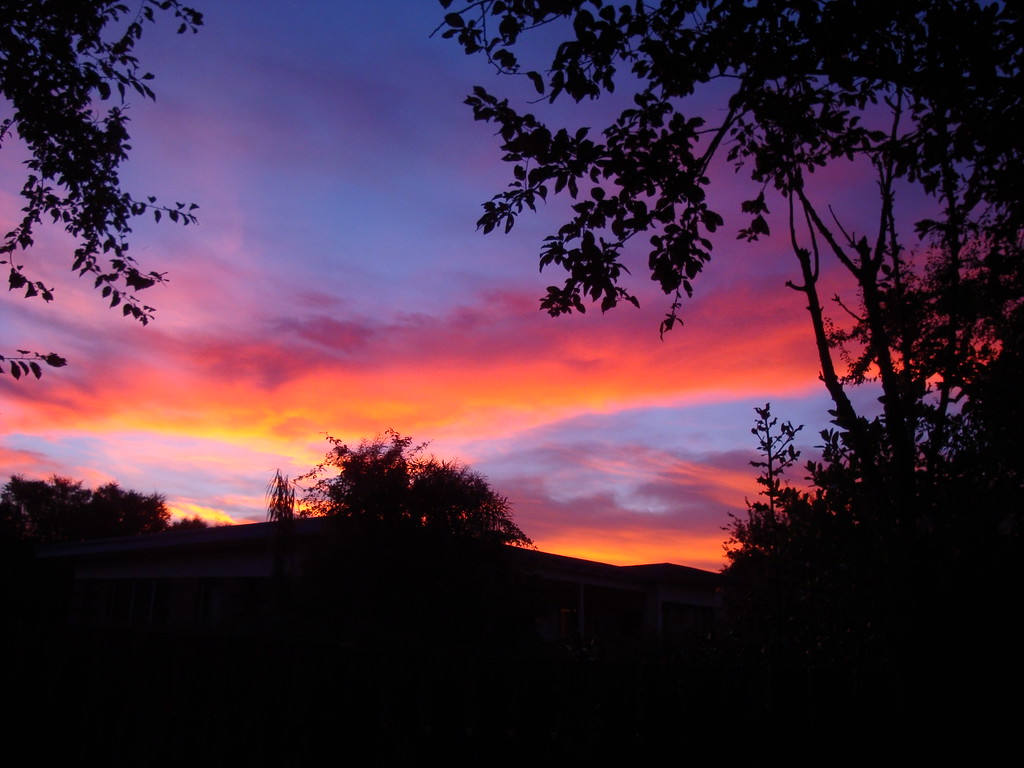 Sunset In Christchurch (really!)