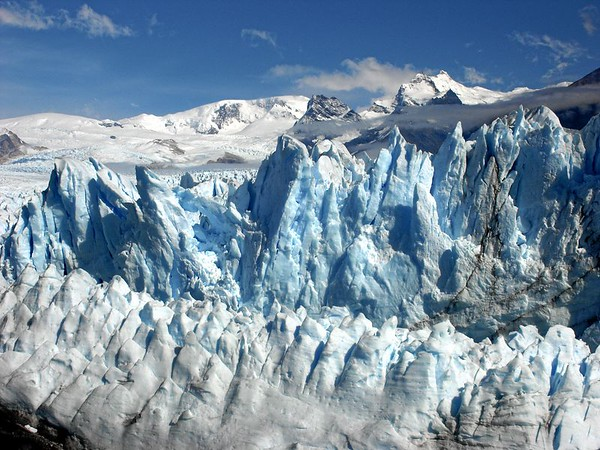 The ice cliffs up close