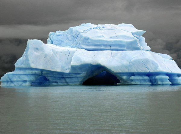 A giant iceberg up close on Brazo Norte of Lago Argentino