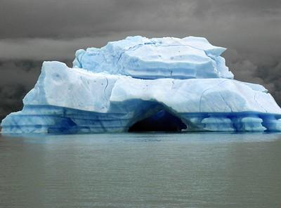 A giant iceberg up close on Brazo Norte of Lago Argentino