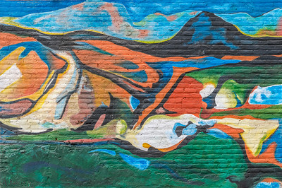 Brick Wall Landscape - Valparaiso