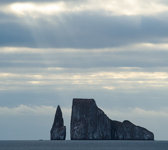Sunbeams on Kicker Rock