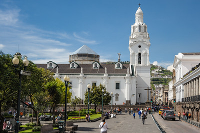 Quito's Central Square (Grande Plaza) in the Old Town