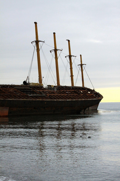 Vessel stranded on the shores of Punta Arenas - Chile