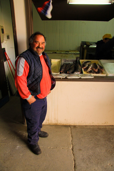 Fisherman of Punta Arenas in the Pescaderia -  Chile