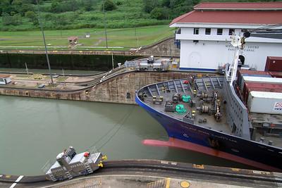 Miraflores - Ship Passing Lock 1
