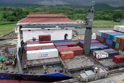 Miraflores - Ship Passing Lock 2
