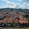 A view of the city from the Cesky Krumlov Castle.