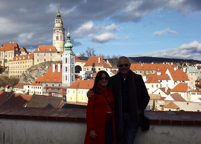 Cesky Krumlov, Czech Republic - January, 2014
