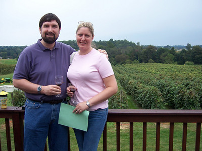 Holly and George having some wine.  Bye, bye, Chadds Ford.  We'll be back!