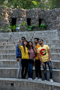 Thousands of visitors come to see The Rock Garden and many take selfies at various landmarks. The Rock Garden of Chandigarh (also known as Nek Chand's Rock Garden after its founder) is a sculpture garden in Chandigarh, India. Nek Chand was a government official who started the garden secretly in his spare time in 1957. Today it is spread over an area of 40 acres and is completely built of industrial and home waste and thrown-away items. The Rock Garden, is one of the most famous sites in India. Nek Chand, the creator of this place, died in 2015 but his site is visited by millions of people every year.