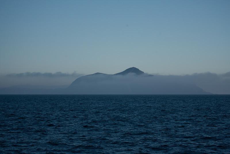 Anacapa Island surrounded by fog