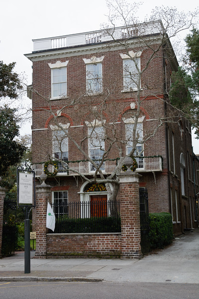 That afternoon, Lale dragged Matt to the first of 4 house tours.  This one is the Nathaniel Russell House on Meeting Street.