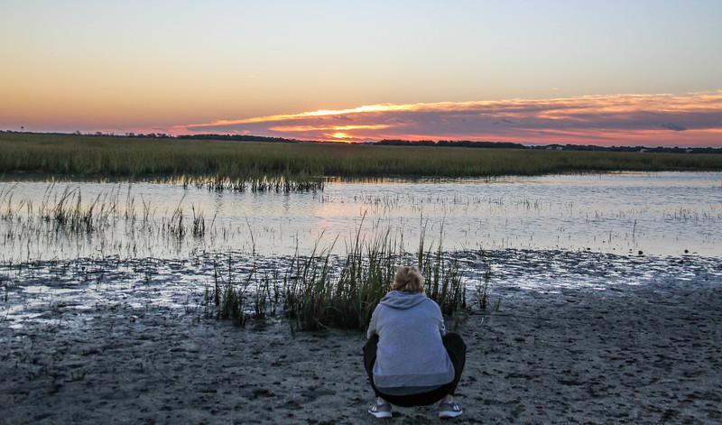 Bebe shooting a sunrise shot