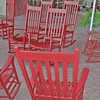Red Rocking Chairs in Hilton Head