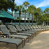 Empty Pool Chairs at the Hyatt in Hilton Head