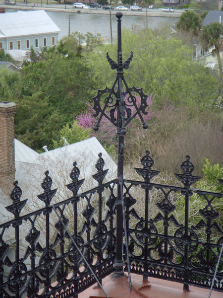 View from cupola at Wentworth Mansion of Charleston SC.