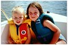 Kalin And Madi On The Boat - June 7