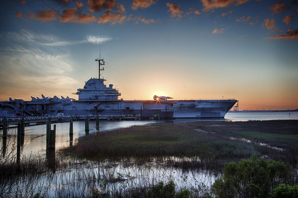 Sunset on the USS Yorktown