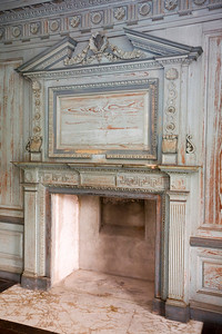 Fireplace in the great room at Drayton Hall.