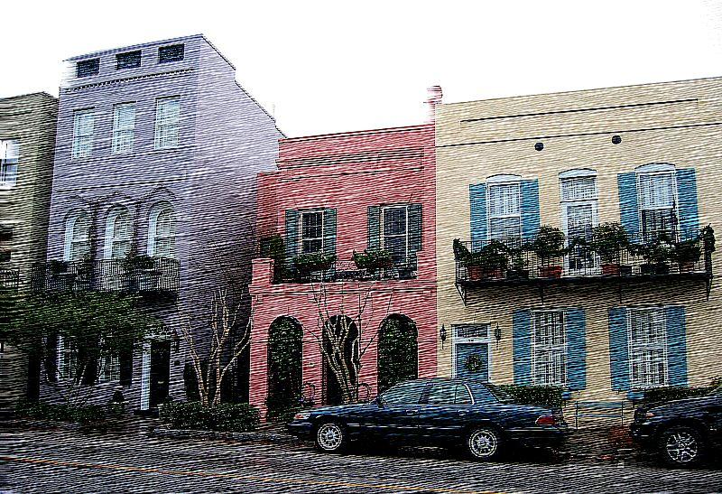 'Rainbow Row' homes [RoughSketch script]