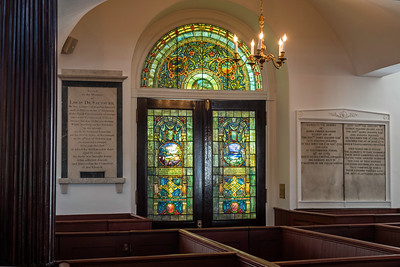 Church interior, doors of main entrance