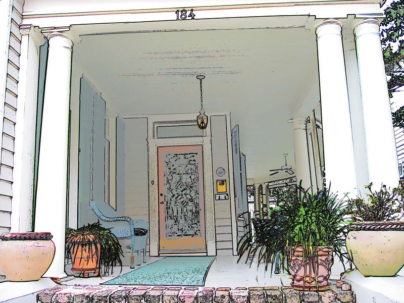 00aFavorite Cannonboro Inn, Charleston - front porch [Picture book script]