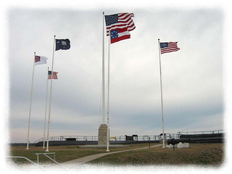 Flags over Ft Sumter closer [edgefade09 frame]