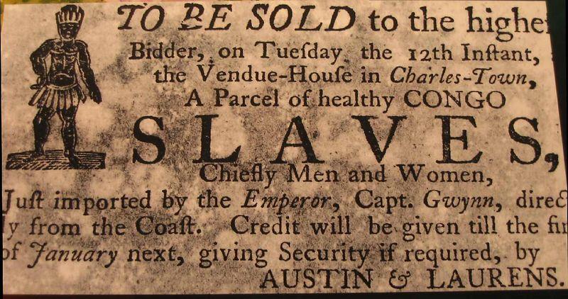 Sign - slave sale