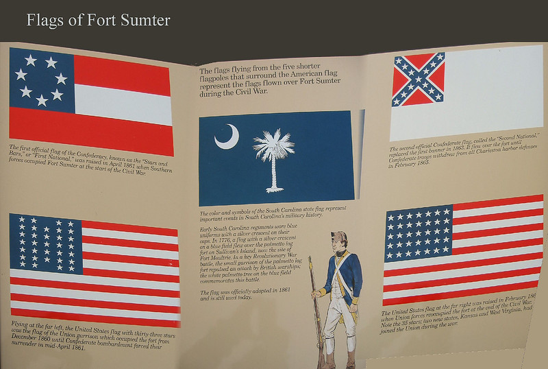 Sign - flags of the fort [3 shots panoramically stitched together, borders, text]
