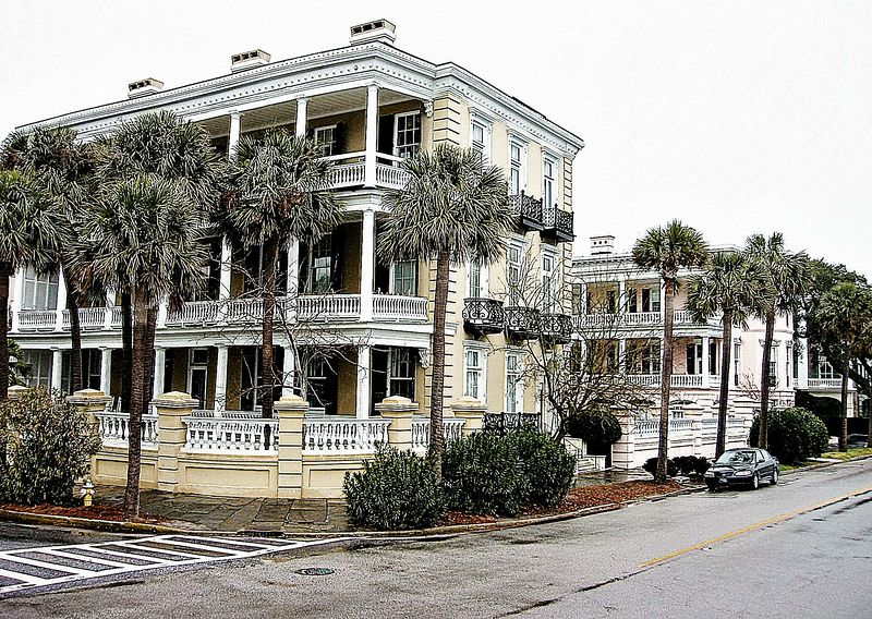 00aFavorite Homes at E and S Battery Streets on Charleston Harbor [Sheri's Sketch - 'Top']