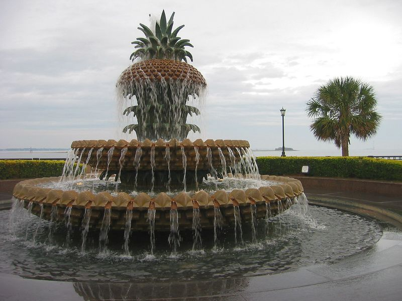 00aFavorite Pineapple Fountain, Waterfront Park, Charleston SC