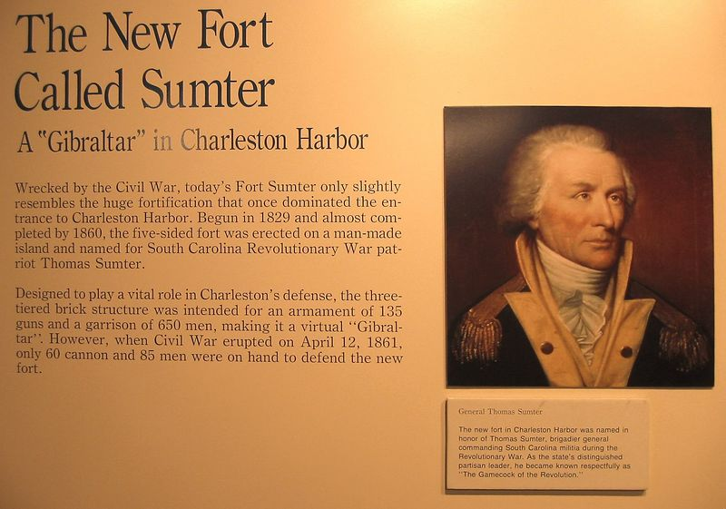 Sign - history of Ft Sumter