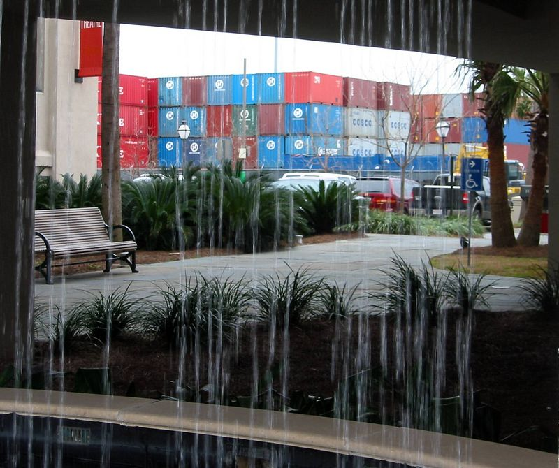 Charleston Port via waterfall-nation's 6th largest (2004) in $ intl shipments - over $33B