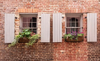 Floral window boxes are everywhere