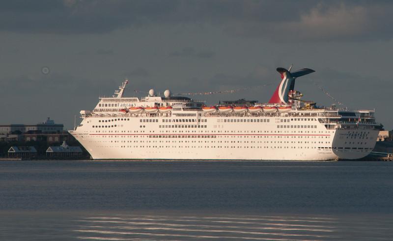 Mount Pleasant Memorial Waterfront Park - Carnival Fantasy Cruise Ship
