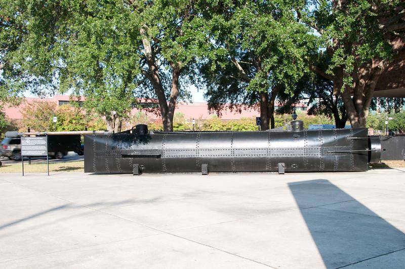Charleston Museum -  Charleston SC, Civil War Submarine, H. L. Hunley