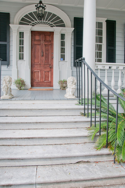 Historic Homes in Charleston - Focus on stairs
