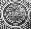 B&W photo of Charleston SC, Sewer Cover