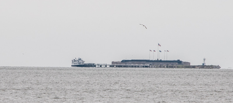 Fort Sumter taken from the main land