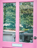 Nice reflection in this window. NEON PINK!