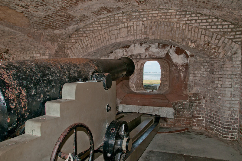 View of cannons from inside the Fort