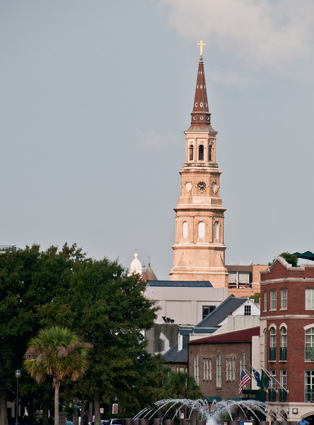 View of Charleston from the ferryboat ride on the way to Fort Sumter.