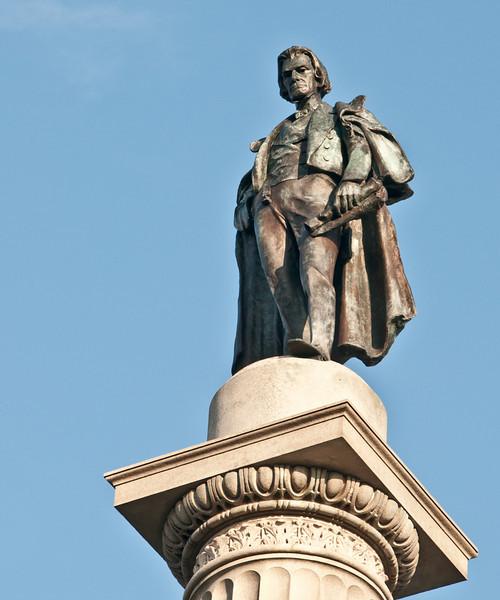 Marion Square - Close-up of John C. Calhoun Statue - HDR