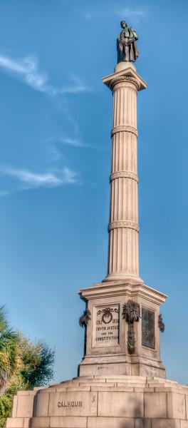 Marion Square - John C. Calhoun Statue - HDR